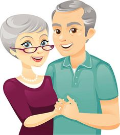 Find high-quality royalty-free vector images that you won't find anywhere else. Free Vector Graphics, Free Vector Art, Old Man Cartoon, Old Couples, Human Drawing, Family Images, Grandma And Grandpa, Grandparents Day, Little Twin Stars