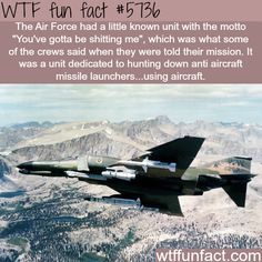 Wow... Just, using aircraft to hunt down ANTI aircraft missile launchers???