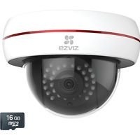 EZViz 1080p Wi-Fi PoE Outdoor Husky Dome Camera with 16GB microSD Card White - EZViz Smart Home Automation