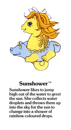 My Little Pony Sunshower fact file ...