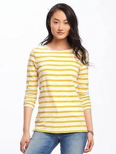 Relaxed Mariner-Stripe Tee for Women