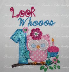 Owl Birthday Tshirt or Onesie. Perfect for by Presleeschicboutique, $30.00