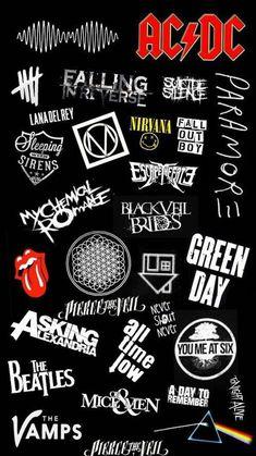 Ideas for wallpaper iphone music artist Geek Wallpaper, Music Wallpaper, Retro Wallpaper, Trendy Wallpaper, Iphone Wallpaper, Rock Band Posters, Rock Band Logos, Rock Bands, Metal Bands