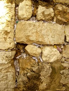 Notes & Prayers at the Western Wall