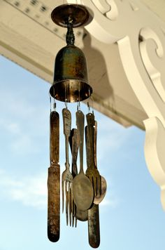 DIY: How to Make Wind Chimes from Old Silver - via Sweet Bear Creek Whims Happenings