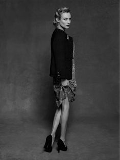 Diane Kruger photographed by Karl Lagerfeld for Chanel's Little Black Jacket