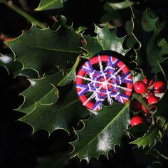 Immergrün-Zwirnknöpfe wünscht Frohe Weihnachten