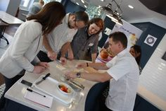 Coup de Pates ambassador James Tanner giving a hand with product preparation! James Tanner, Win A Trip, T Play, Creating A Brand, Chefs, New Product, Competition, Marketing