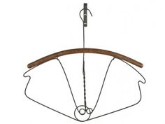 Antique Wire and Wood Coat Hanger #1 $129