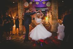 Fabulous image of our Real Bride Leanne wearing Poppy by House of Mooshki