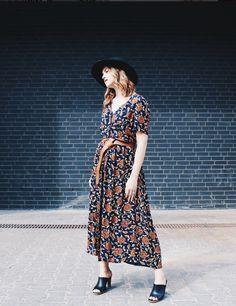 Bohemian vintage dress (1950s)