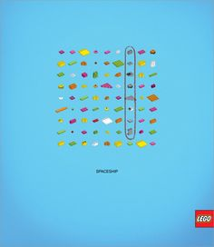 Three creative print advertisements made for Lego by TBWA Costa Rica. Instead of finding the words, spaceship, crocodile and tractor you have to find the piece of lego to create it. By TWBA Costa Rica Street Marketing, Guerilla Marketing, Clever Advertising, Print Advertising, Print Ads, Advertising Campaign, Layout, Lego Words, Amazing Lego Creations