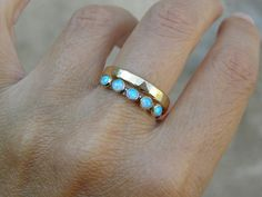 Gold and Opal ring Recycled 14k Gold and Opal stones by OritNaar