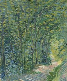 Van Gogh, Path in the Woods, Summer 1887. Oil on canvas, 46.0 x 38.5 cm. Van Gogh Museum, Amsterdam. 10367746_756196314446180_8066794667336229456_n.jpg (417×502)