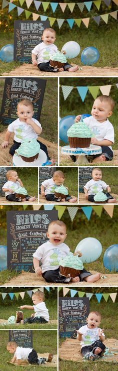 Outdoor Cake Smash, One Year Birthday Photos, Baby Photographer Tampa, Baby Boy Photos Check out the website to see more