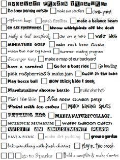 printable summer to do list