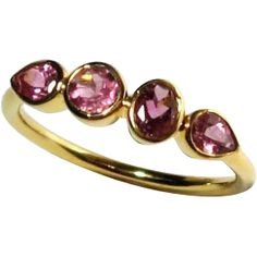 SALE Pink Tourmaline 14K Gold Ring, Size 6.25