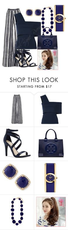 """Ynallection Gorgeous Blue"" by pearllynnerivera on Polyvore featuring Martin Grant, Rosetta Getty, Jessica Simpson, Tory Burch, Frederic Sage, Caravelle by Bulova and Kenneth Jay Lane"