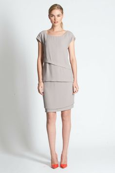 LE MARAIS SHORT SLEEVE TUNIC ANGORA GREY