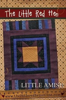Little Amish - mini star quilt - The Little Red Hen