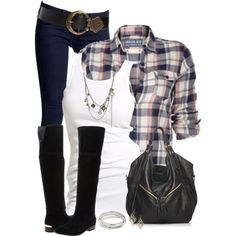 Boots and Skinny Jeans, created by daiscat on Polyvore