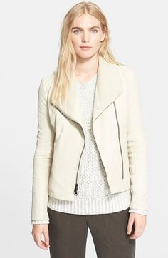Vince Rib Scuba Collar Jacket available at #Nordstrom