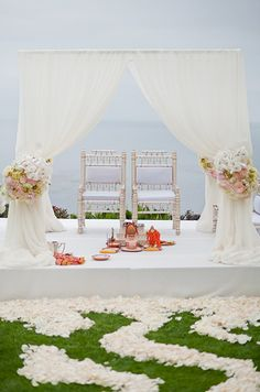 real wedding, laguna beach wedding, southern california wedding, indian wedding, modern garden reception || Colin Cowie Weddings