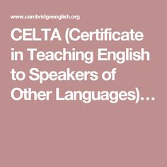 Get the classroom practice and essential skills to start teaching English with CELTA, the TEFL qualification that employers around the world ask for. Cambridge English, Teaching English, Languages, Speakers, Certificate, White Lamborghini, Things To Come, Esl, Career