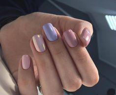 Easy Matte Nail Designs Ideas You'll Love - Page 21 of 62 Need new nails? We have gathered 62 stylish matte nails to inspire you. Matte can be used to create many different looks. Love Nails, How To Do Nails, Fun Nails, Nails Polish, Gelish Nails, Purple Nail Designs, Rainbow Nails, Pastel Nails, Colorful Nails