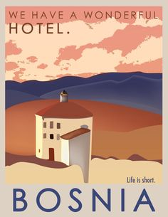 Bosnia Vintage Style, Vintage Fashion, Vintage Hotels, Voyage Europe, Bosnia, Vintage Travel Posters, Vacations, World, Movie Posters