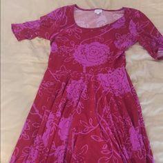 Nicole Lularoe Dress Modest and flattering pink Lularoe Nicole dress! Brand new never worn! LuLaRoe Dresses Midi