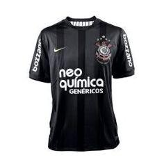 c7d4378900 Camisas de Times de Futebol Brasileiro Região Sudeste  Camisa Original Nike  Preta - Centenário Corinthians 2010