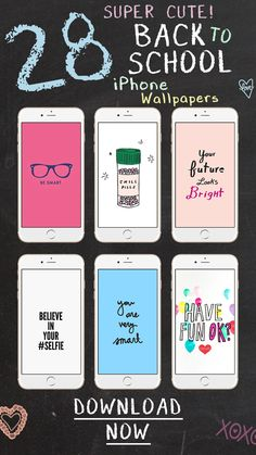 28 Super Cute Back to School Wallpapers for iPhone & Android ★ Check them out at www.preppywallpapers.com or @prettywallpaper