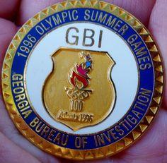 Georgia Bureau of Investigation: 1996 Olympic Summer Games Lapel Pin Summer Games, Lapel Pins, Olympics, Georgia, Personalized Items, Badges, Ebay, Badge