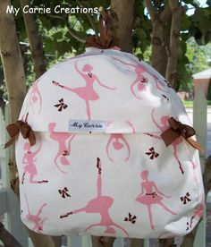 Pretty Dancing Ballerina Toddler Backpack. $20.00, via Etsy.
