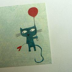 The blue cat, Nicolas Gouny