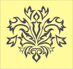 stencil damask design element 29 flourish by oklahomastencil, Stencil Patterns, Embroidery Patterns, Machine Embroidery, Arabesque, How To Make Decorations, Pyrography Patterns, Origami And Kirigami, Borders And Frames, Scroll Saw Patterns