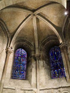 Stained glass windows in Saint-Germain des Prés, Paris, January 2014 by Yolaida Durán