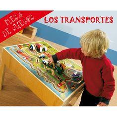 mesa sensorial ref los transportes mesa de juegos perfecta para estimular el desarrollo
