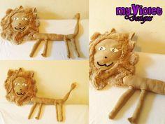Dibujo de Gaby transformado en peluche! un leon muy locooo! :D myvioletdesigns.com