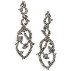 Bavna Women's Champagne Diamond & Sterling Silver Champ Rose Earrings ($1,500) ❤ liked on Polyvore featuring jewelry, earrings, no color, rose earrings, sterling silver diamond earrings, champagne earrings, champagne diamond jewelry and champagne jewelry