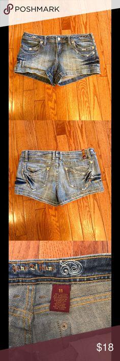 Zana Di Jean Shorts Zana Di Jean shorts size 11, distressed,  faded look, double pocket in the front and back Zana Di Shorts Jean Shorts
