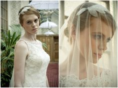 Beautiful @Natasha Ashley headpiece ~ lace wedding dresses and parasols inspiration shoot