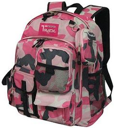 PINK Camoflauge Backpack School Pack Bag NEW Camo 202 Free Shipping Day Travel #Triplegear