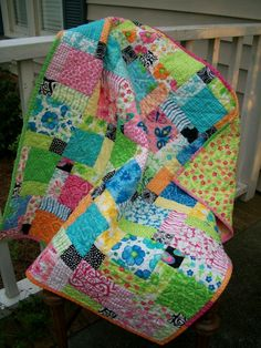 Sew Cook and Travel: DP 9 Patch Baby Quilt. Disappearing 9 Patch