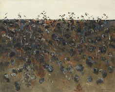 Upwey landscape 1965 by Fred Williams (1927–82). National Gallery of Victoria, Melbourne. Felton Bequest, 1965