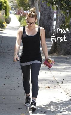 Hilary Duff talks about losing the baby weight through moderation, not panic!