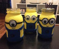 Minion Mason Jar Bank