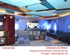 Wall Mural made with CanvasTac at Chickies & Pete's in Atlantic City