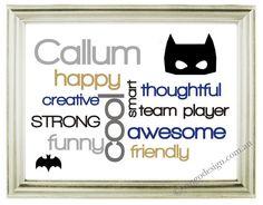Personalised Batman Name Door Decal Superhero Mask Wall - Superhero wall decalssuper hero wall art etsy